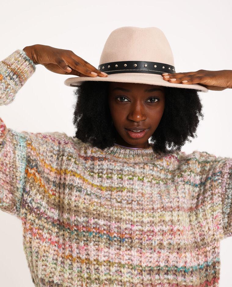 Chapeau en laine beige taupe