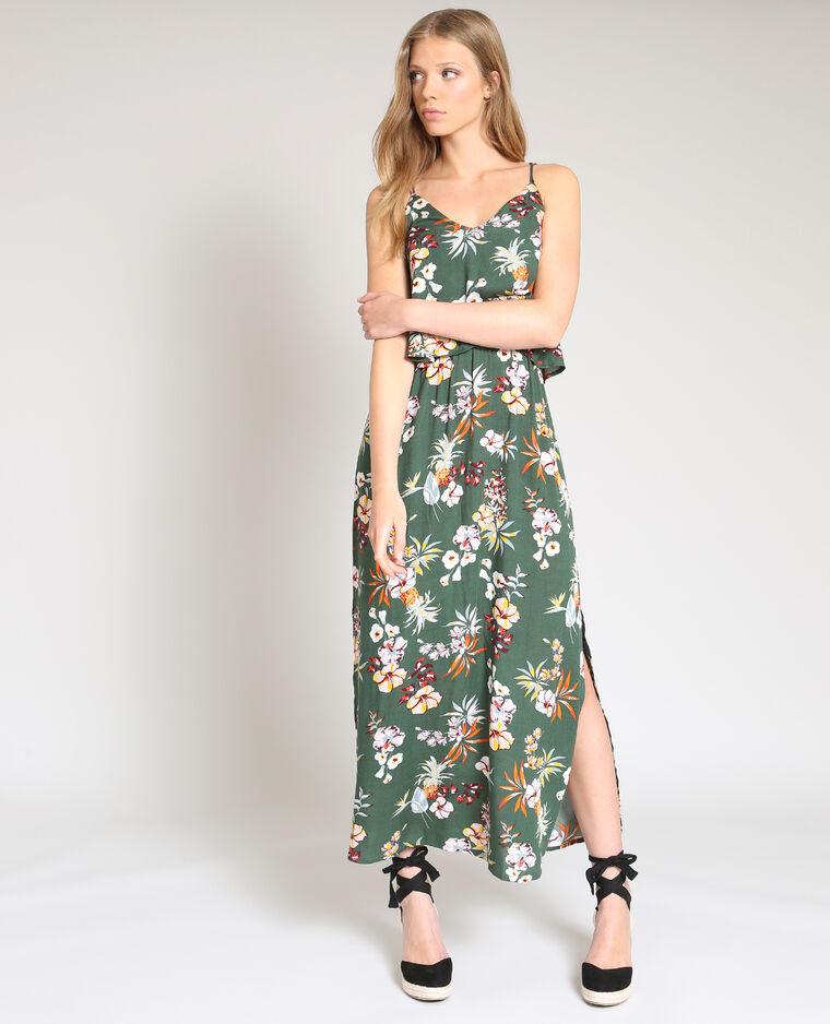 95c4d92b982 Robe longue fleurie vert - 780870559E3A