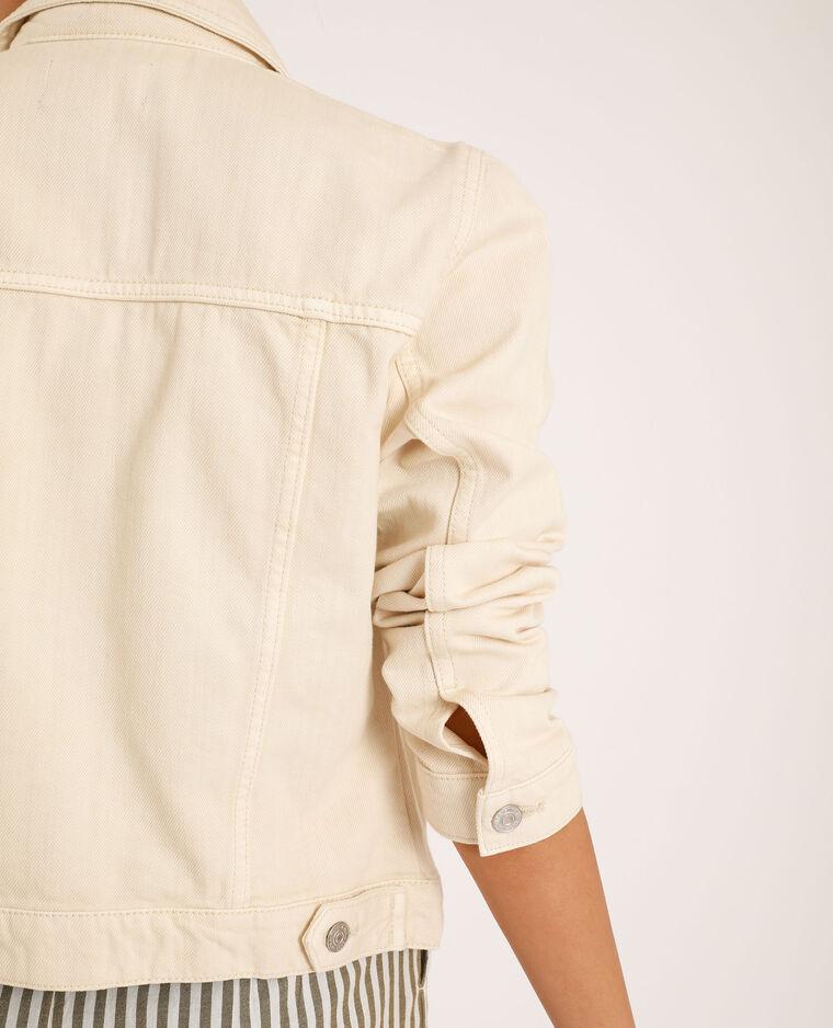 Veste en jean blanc cassé - Pimkie