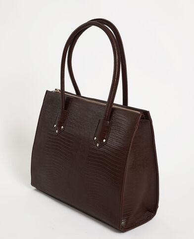 Grand sac rigide marron