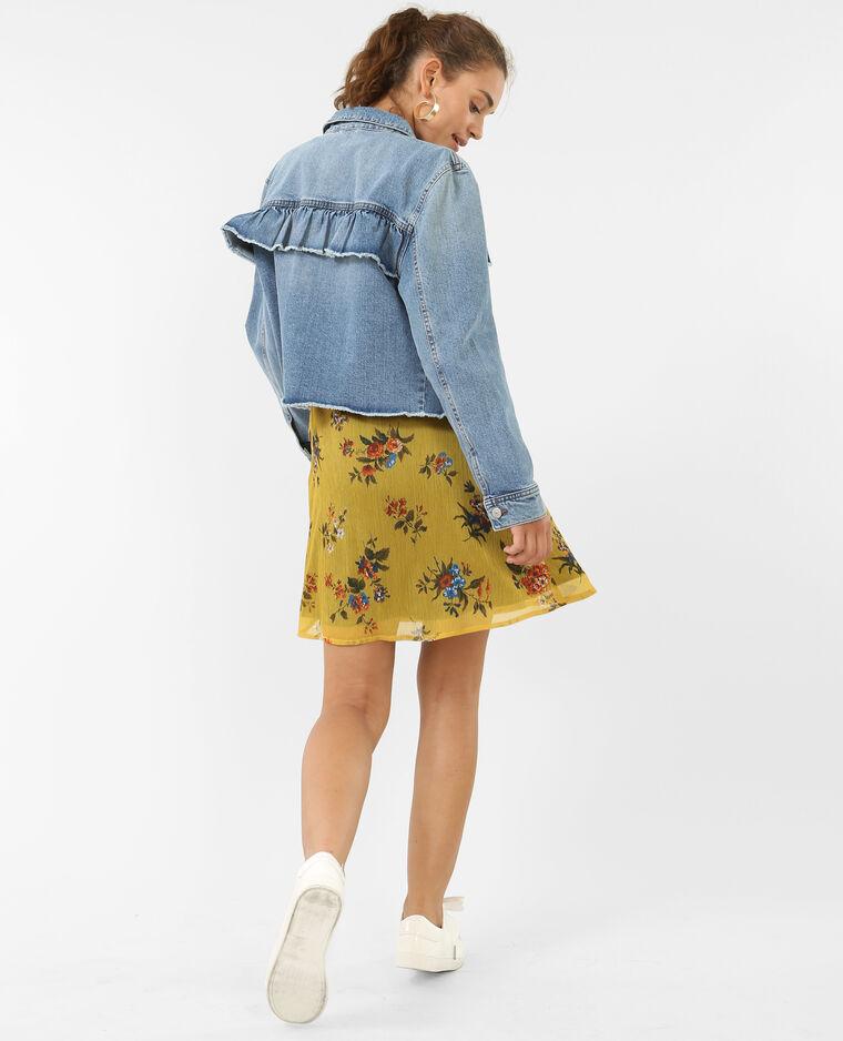 Robe portefeuille jaune - Pimkie