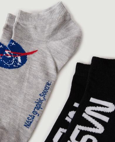 Lot de 2 paires de chaussettes NASA noir - Pimkie