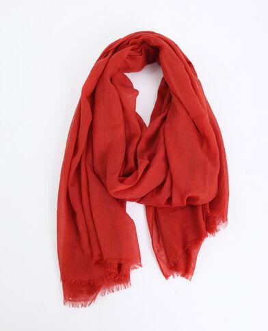 Foulard léger rouge