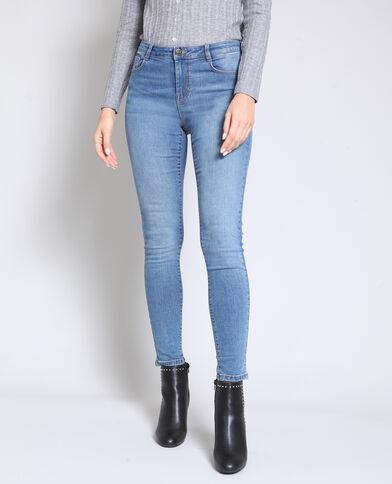 30e3a9f1a9bb5 Jean skinny mid waist bleu denim