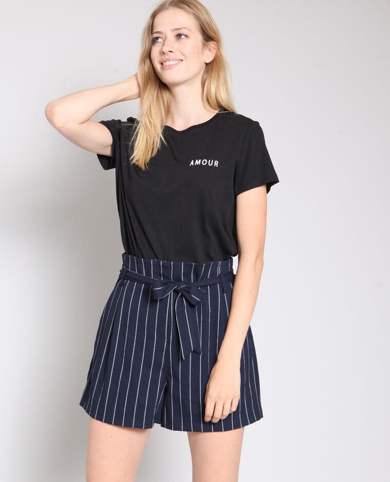 T-shirt amour noir