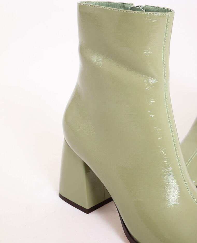 Bottines vernies vert