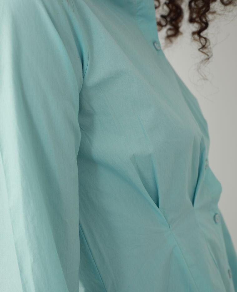Chemise longue cintrée bleu ciel - Pimkie