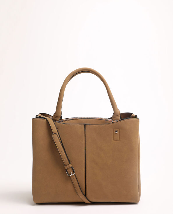 Grand sac cabas beige ficelle