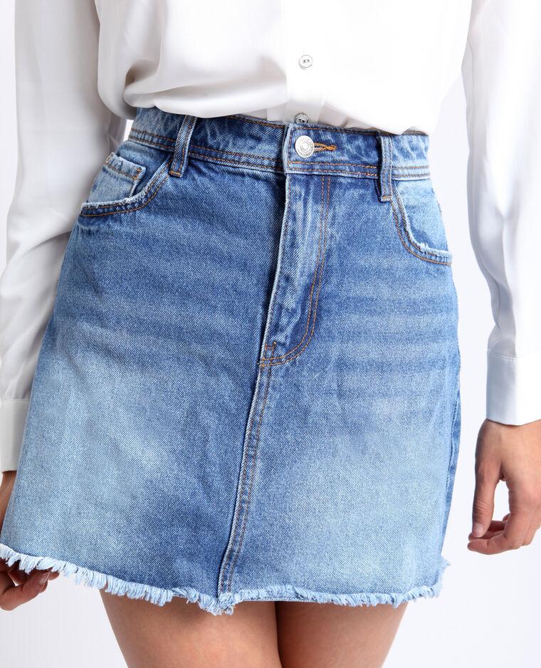 Jupe en jean bleu