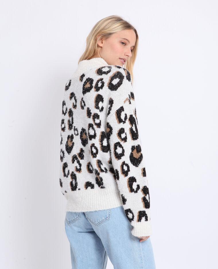 Pull léopard beige