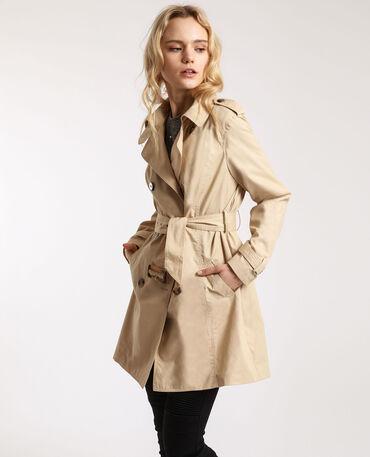 trench hivers femme beige ceinture