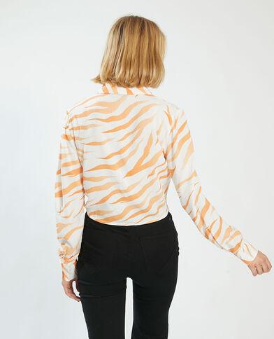 Chemise à nouer tigrée blanc cassé - Pimkie