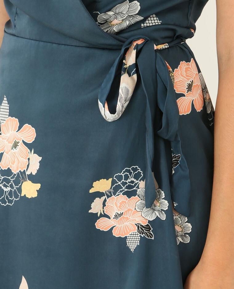 Robe portefeuille bleu canard