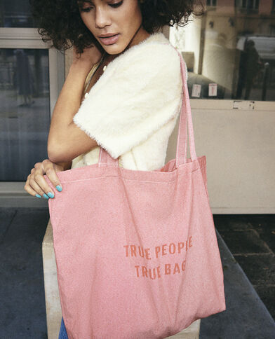 Grand tote bag 100% recyclé rose - Pimkie