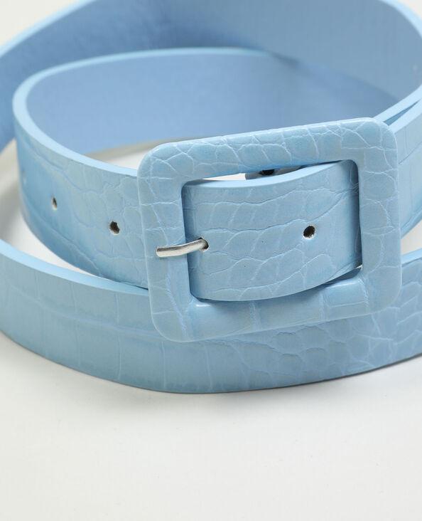 Ceinture en simili cuir effet reptile bleu - Pimkie