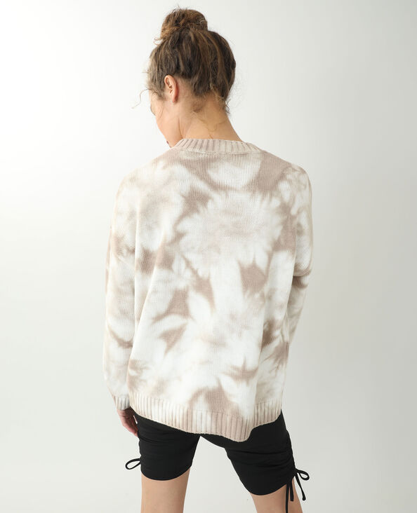 Pull oversize tie and dye beige - Pimkie