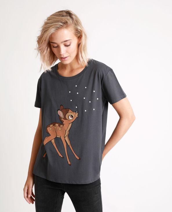 T-shirt Bambi gris anthracite