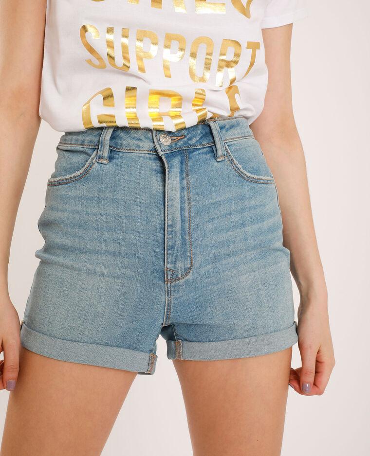 Short en jean high waist bleu délavé - Pimkie