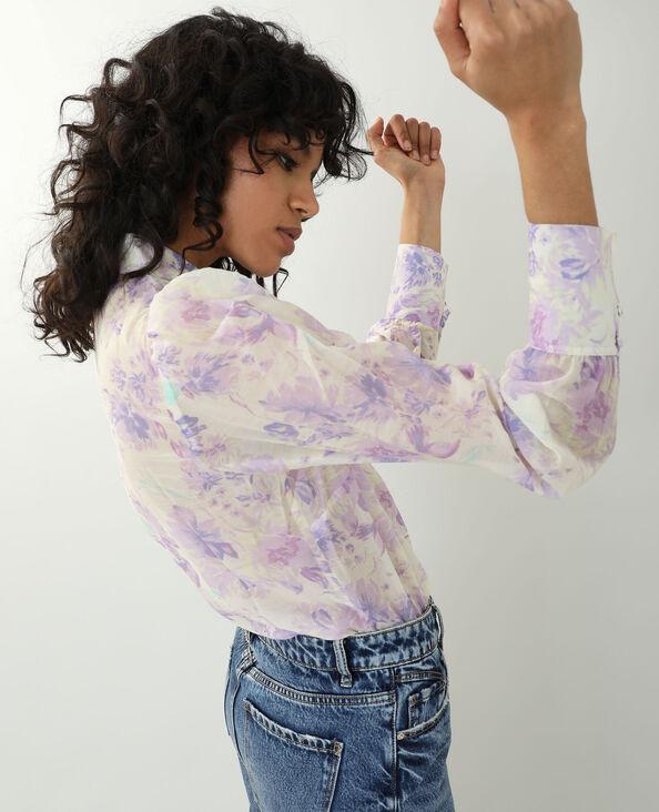 Chemise fleurie blanc - Pimkie