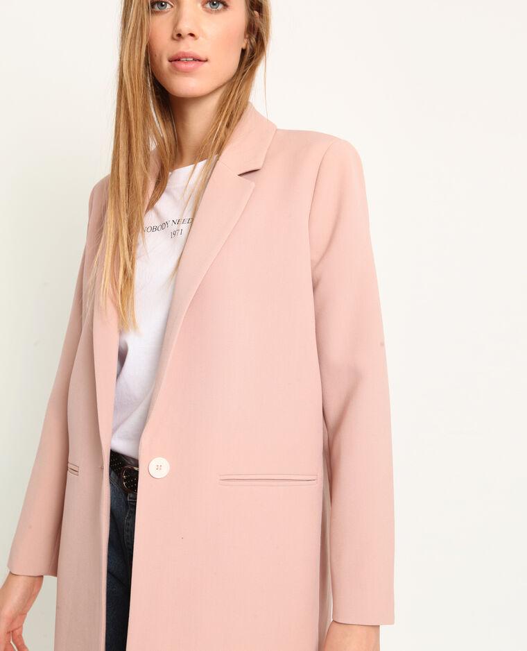 Manteau fluide rose