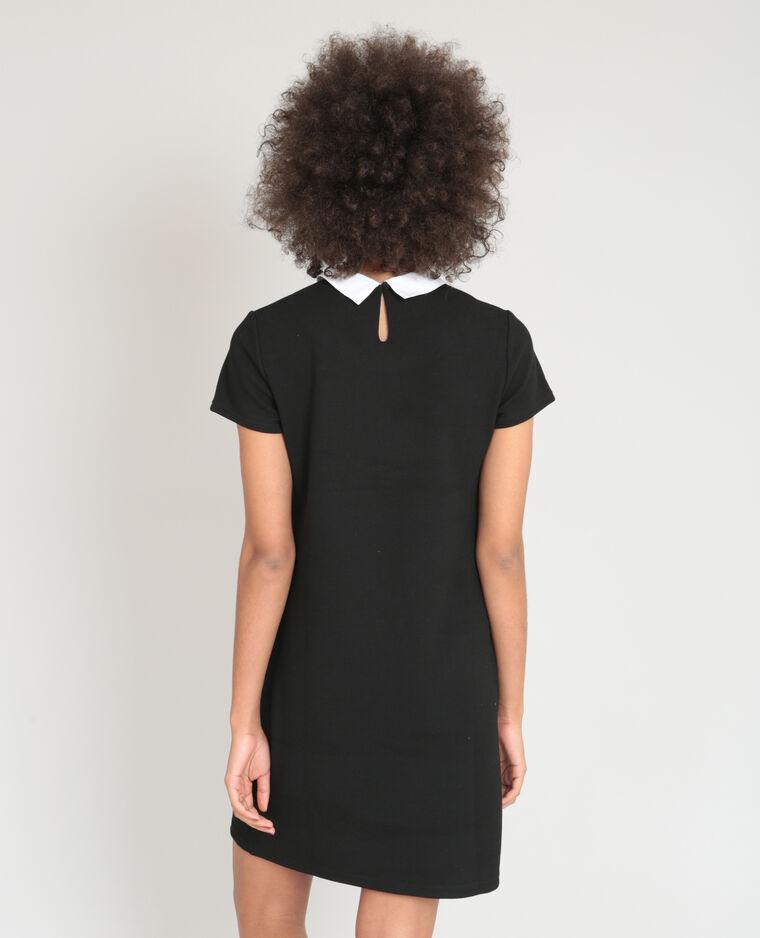 Robe col claudine noir