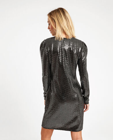 Robe à sequins noir