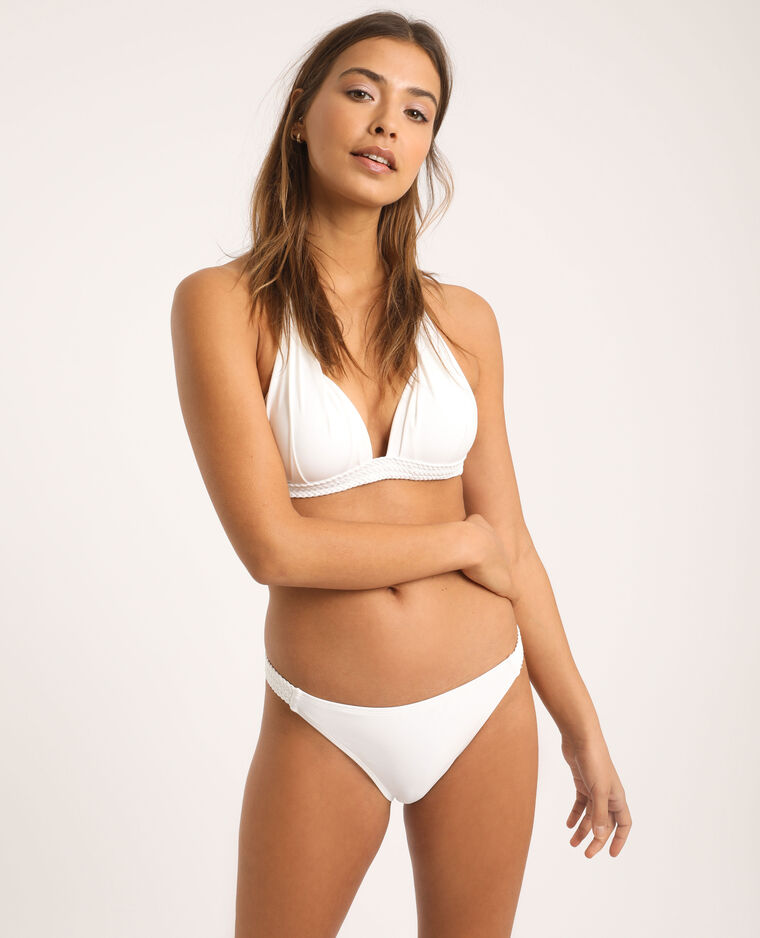 Bas de bikini tressé blanc - Pimkie