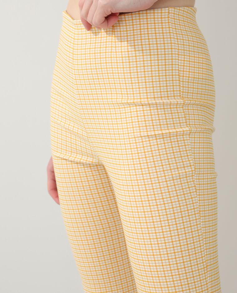 Pantalon flare Vichy jaune - Pimkie