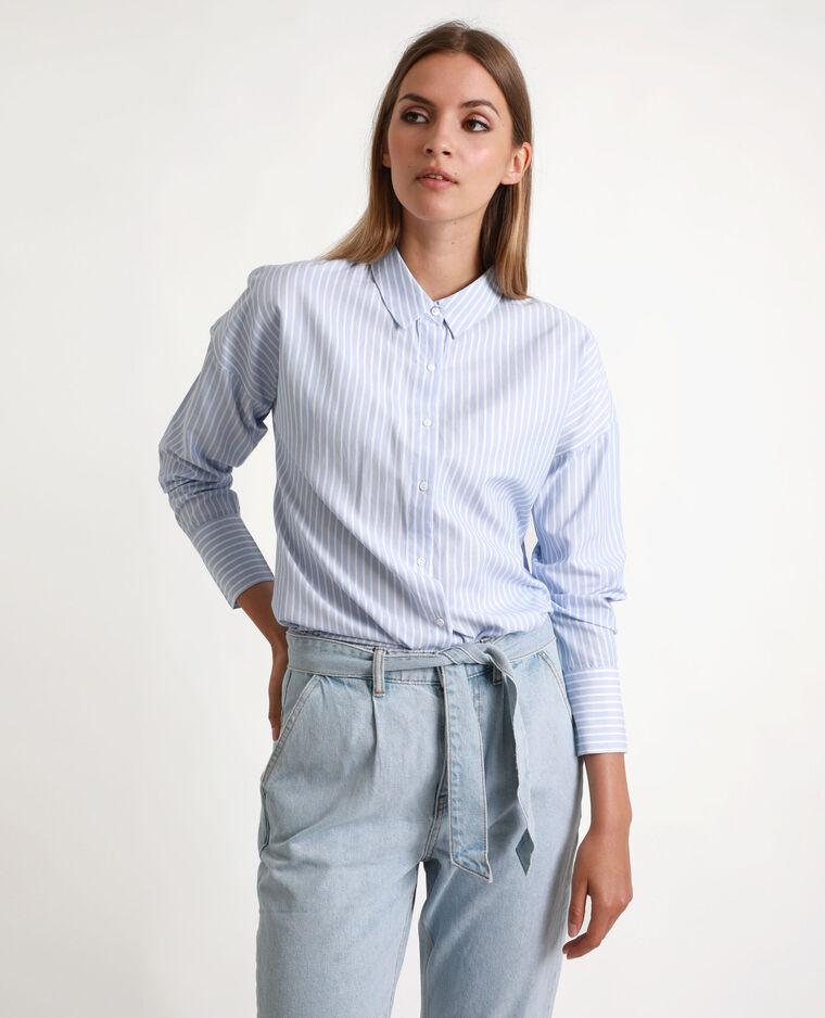 Chemise rayée Bleu clair - Pimkie