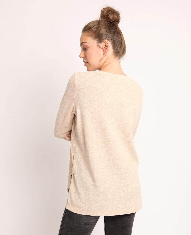 T-shirt doux beige sable