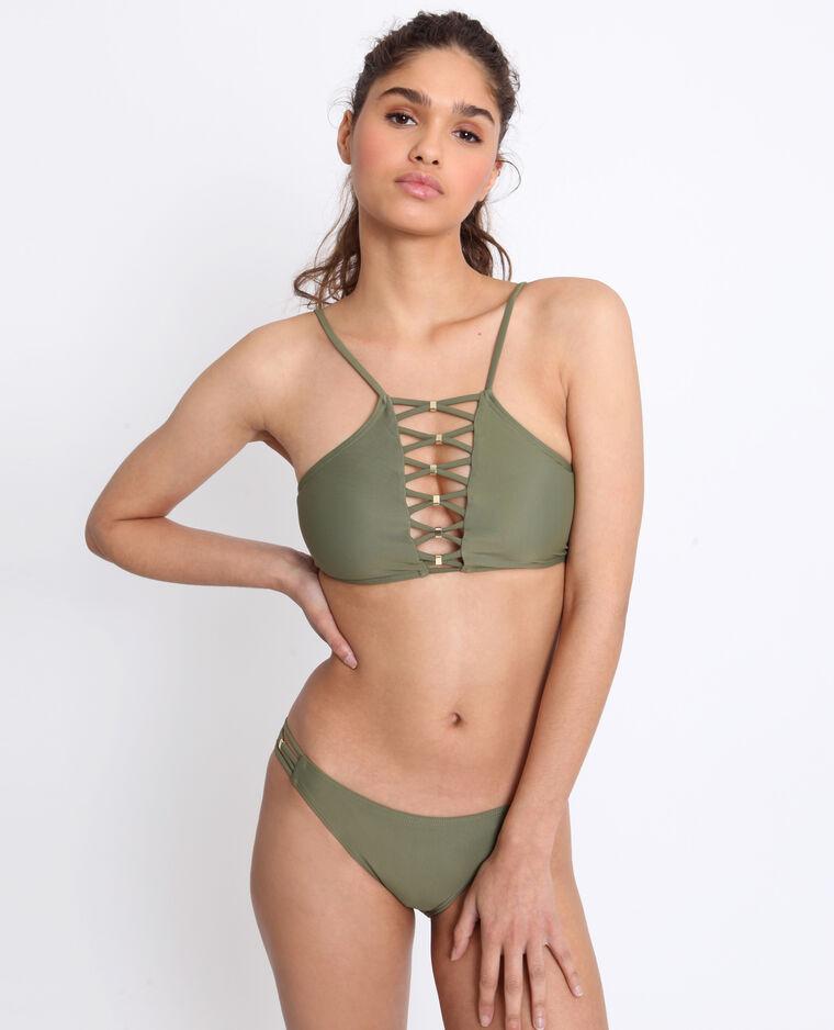 Bas de bikini à lacets vert