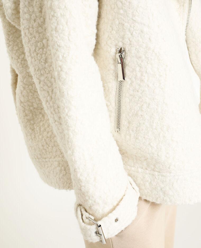 Veste façon mouton blanc cassé