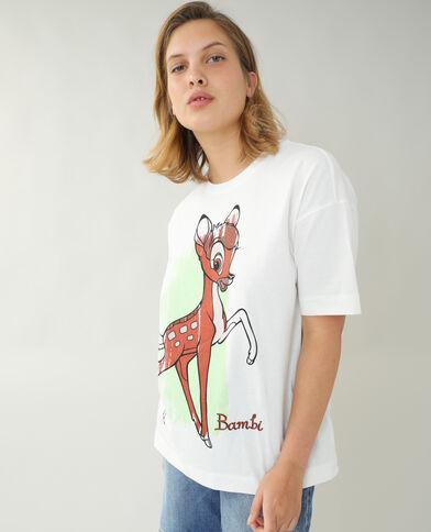 T-shirt ample Bambi blanc cassé