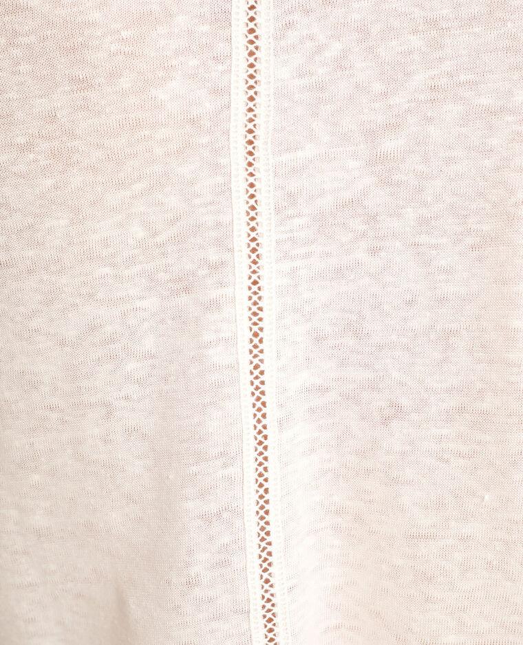 T-shirt en lin blanc cassé