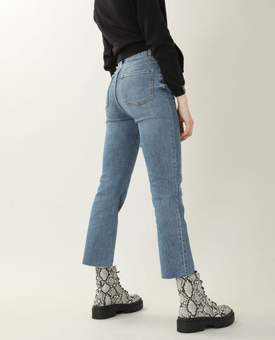 Jean boot cut high waist bleu denim