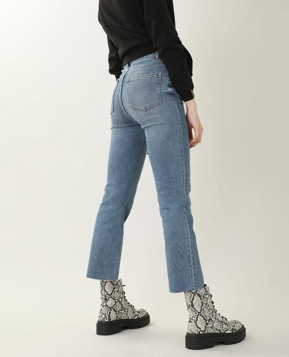 Jean boot cut high waist bleu denim