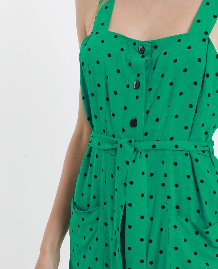Robe midi à bretelles vert
