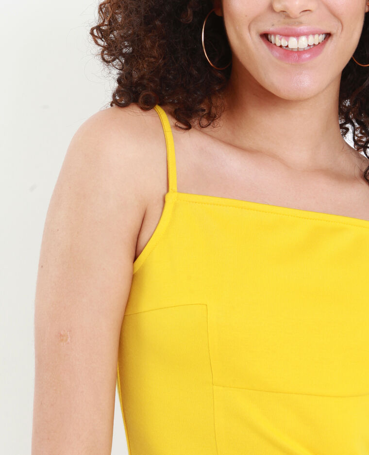 Robe moulante jaune