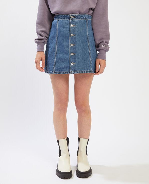 Jupe courte en jean bleu denim - Pimkie