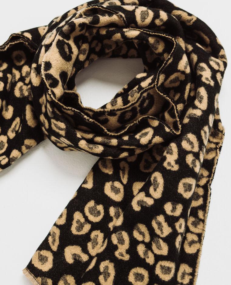 Echarpe léopard noir - Pimkie