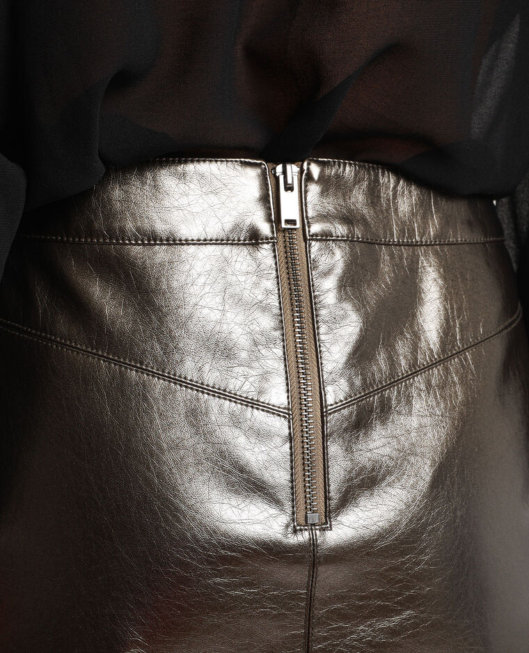 Jupe métallisée Stéphanie Durant x Pimkie gris argenté - Pimkie