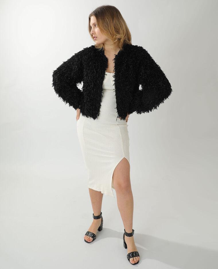 Robe longue côtelée beige chiné - Pimkie