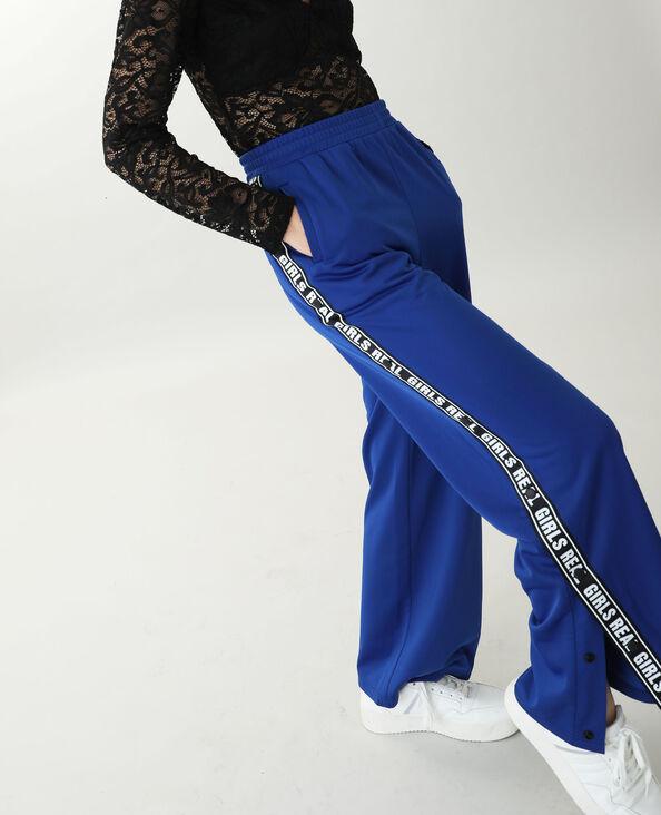 Pantalon de jogging molletonné bleu électrique