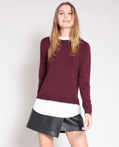 Pull chemise bordeaux 30b64076ed7f