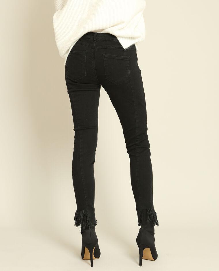 Pantalon skinny à franges noir - Pimkie