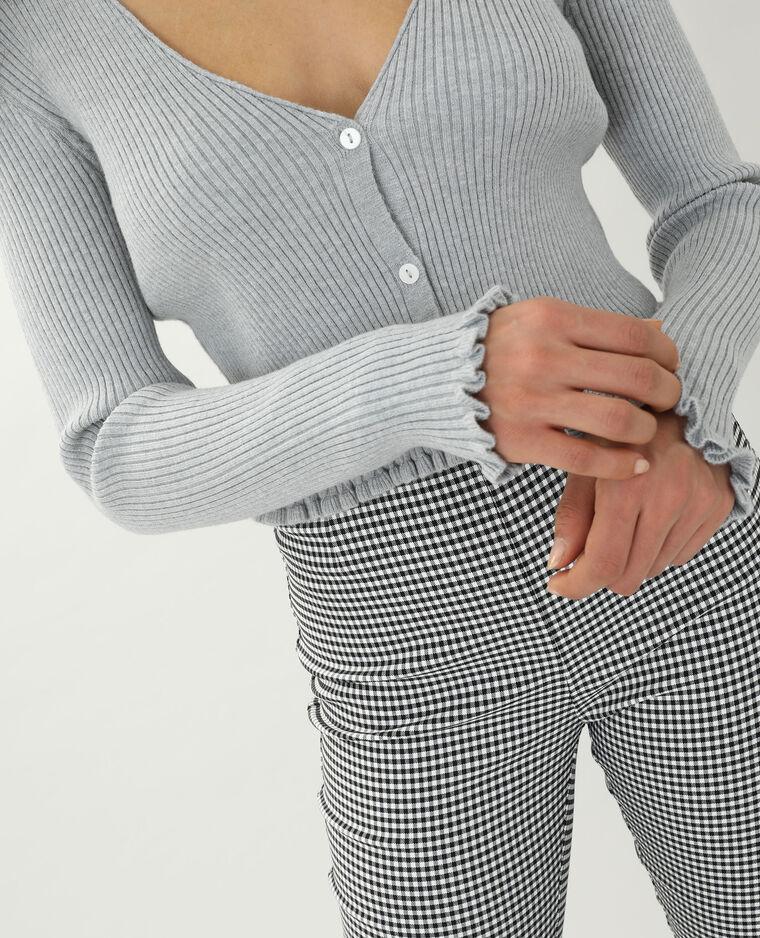 Gilet court gris chiné - Pimkie