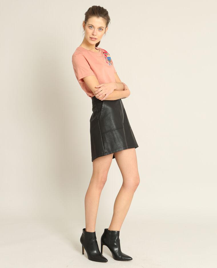 T-shirt brodé rose - Pimkie