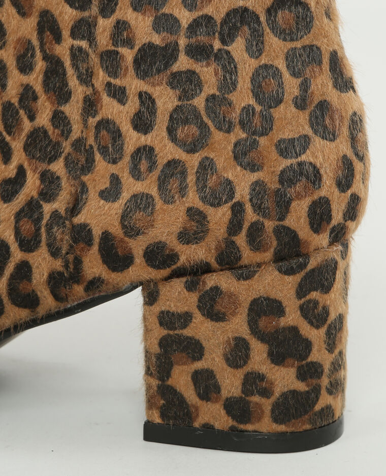 Boots léopard marron
