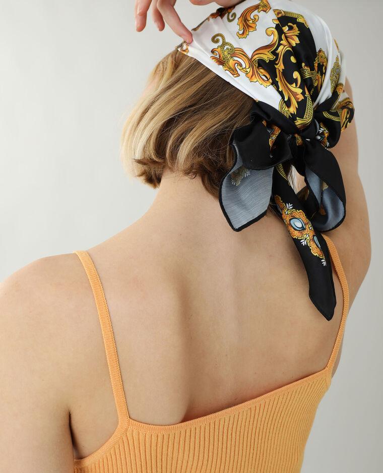 Robe côtelée à fines bretelles orange - Pimkie