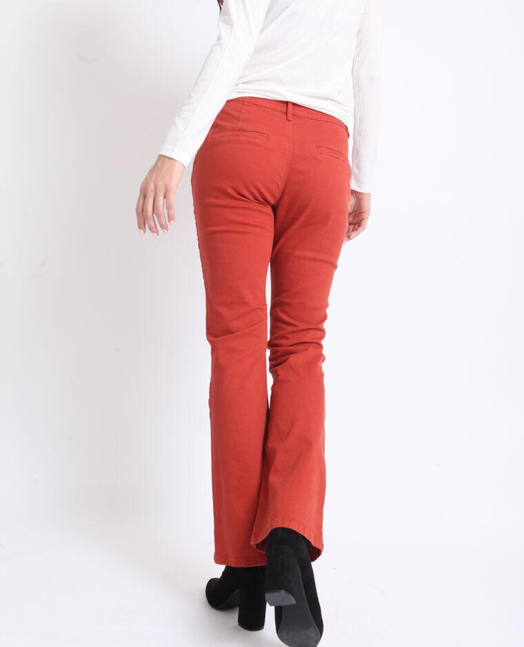 Pantalon flare rouille